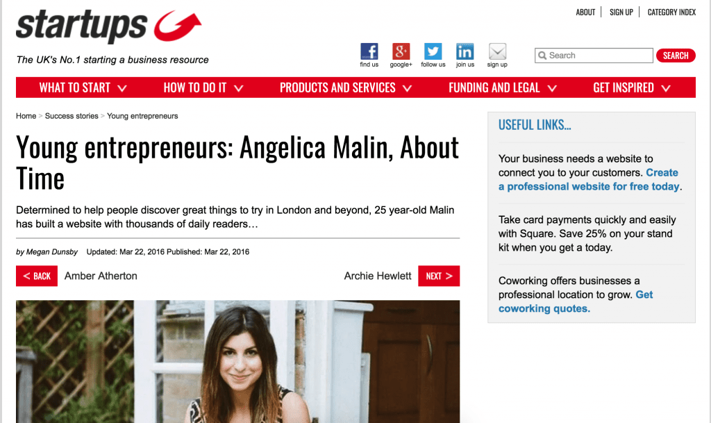 angelica malin press, angelica malin startups.com, angelica malin startups.co.uk, angelica malin profile