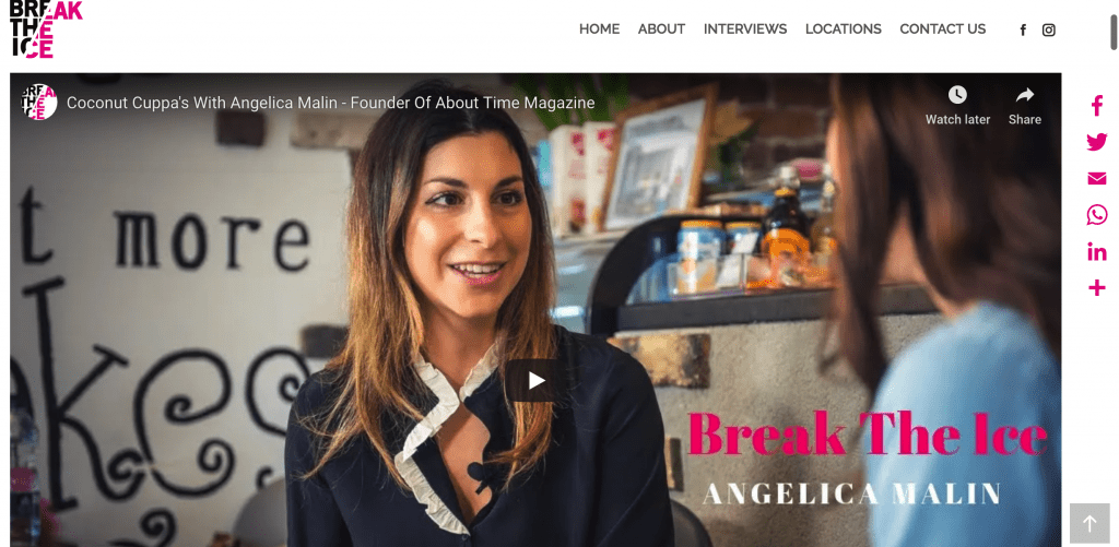 angelica malin break the ice, angelica malin break the ice interview